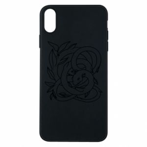 Phone case for iPhone Xs Max Gentle snake contour
