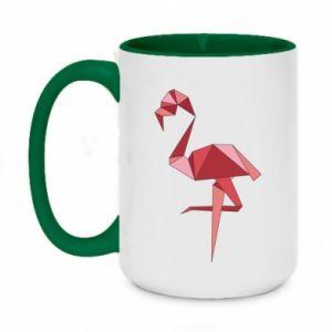 Kubek dwukolorowy 450ml Geometria Flamingo