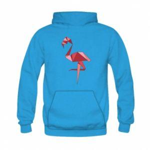 Bluza z kapturem dziecięca Geometria Flamingo