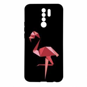 Etui na Xiaomi Redmi 9 Geometria Flamingo