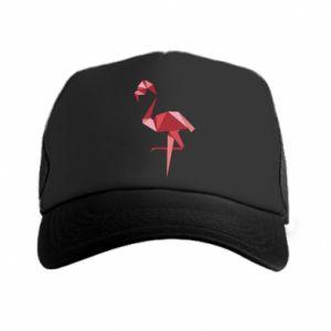 Czapka trucker Geometria Flamingo