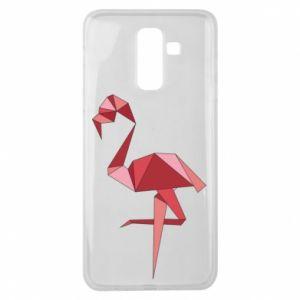 Etui na Samsung J8 2018 Geometria Flamingo