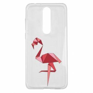 Etui na Nokia 5.1 Plus Geometria Flamingo
