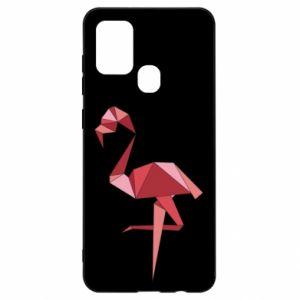 Etui na Samsung A21s Geometria Flamingo