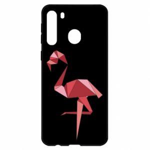 Etui na Samsung A21 Geometria Flamingo