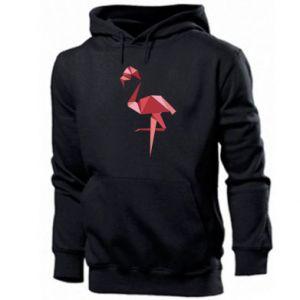 Męska bluza z kapturem Geometria Flamingo