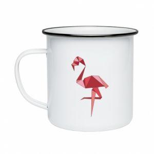Kubek emaliowany Geometria Flamingo