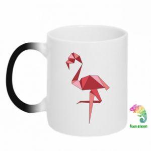 Kubek-kameleon Geometria Flamingo