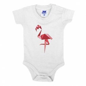 Body dziecięce Geometria Flamingo