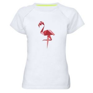 Koszulka sportowa damska Geometria Flamingo