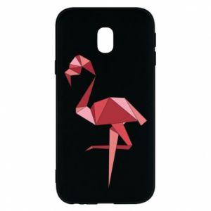 Etui na Samsung J3 2017 Geometria Flamingo