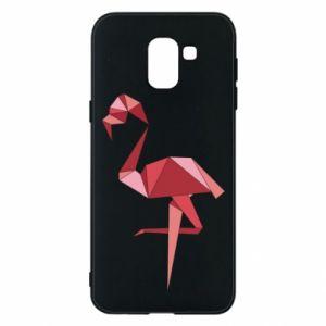 Etui na Samsung J6 Geometria Flamingo