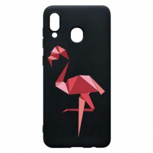 Etui na Samsung A20 Geometria Flamingo