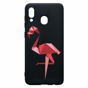 Etui na Samsung A30 Geometria Flamingo
