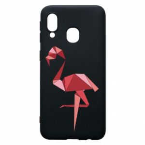Etui na Samsung A40 Geometria Flamingo