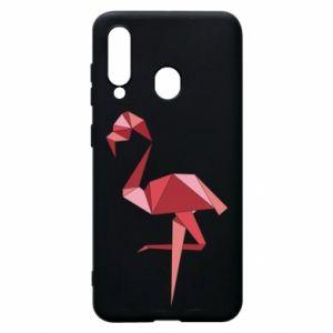 Etui na Samsung A60 Geometria Flamingo