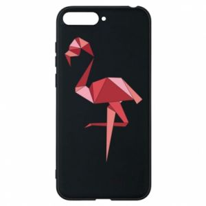 Etui na Huawei Y6 2018 Geometria Flamingo