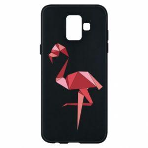 Etui na Samsung A6 2018 Geometria Flamingo