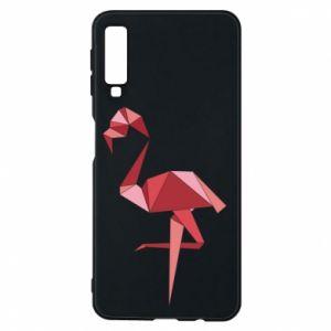 Etui na Samsung A7 2018 Geometria Flamingo