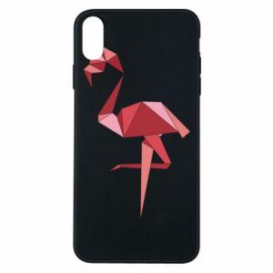 Etui na iPhone Xs Max Geometria Flamingo