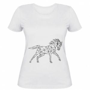 Damska koszulka Geometria konia - PrintSalon