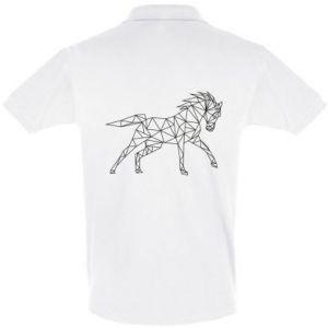 Koszulka Polo Geometria konia - PrintSalon