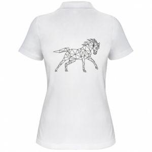Damska koszulka polo Geometria konia - PrintSalon