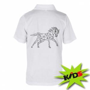 Dziecięca koszulka polo Geometria konia - PrintSalon