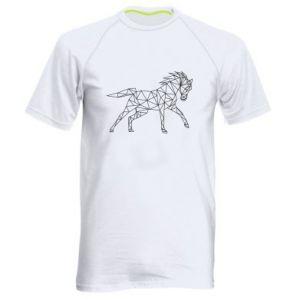 Męska koszulka sportowa Geometria konia - PrintSalon