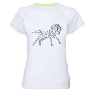 Damska koszulka sportowa Geometria konia - PrintSalon