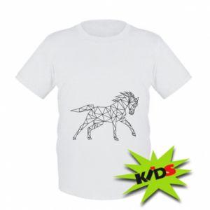 Dziecięcy t-shirt Geometria konia - PrintSalon