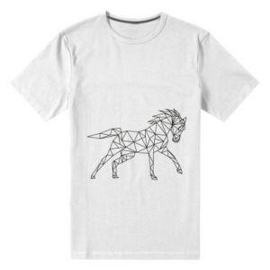 Męska premium koszulka Geometria konia - PrintSalon