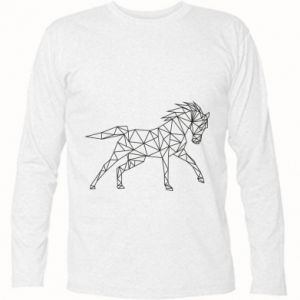 Koszulka z długim rękawem Geometria konia - PrintSalon