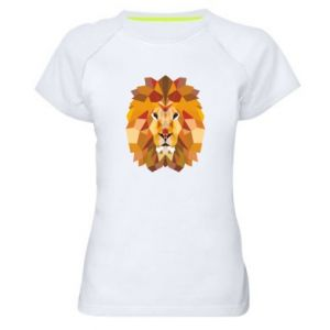 Damska koszulka sportowa Geometria Lwa