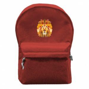 Plecak z przednią kieszenią Geometria Lwa