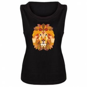 Damska koszulka bez rękawów Geometria Lwa