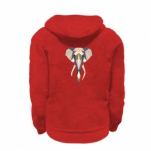 Bluza na zamek dziecięca Geometria słonia