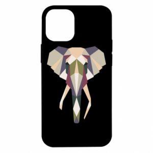 Etui na iPhone 12 Mini Geometria słonia