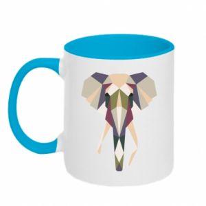 Kubek dwukolorowy Geometria słonia
