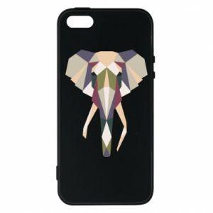 Etui na iPhone 5/5S/SE Geometria słonia