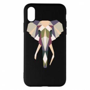 Etui na iPhone X/Xs Geometria słonia
