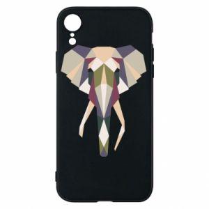 Etui na iPhone XR Geometria słonia