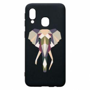 Etui na Samsung A40 Geometria słonia