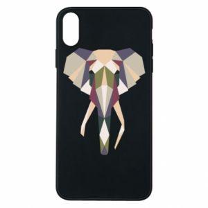 Etui na iPhone Xs Max Geometria słonia