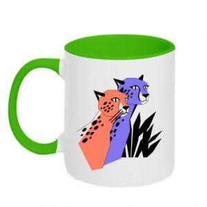 Kubek dwukolorowy Gepardy - PrintSalon