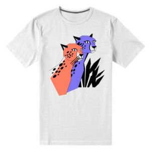 Męska premium koszulka Gepardy - PrintSalon