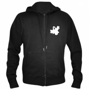 Men's zip up hoodie Ghost screams - PrintSalon