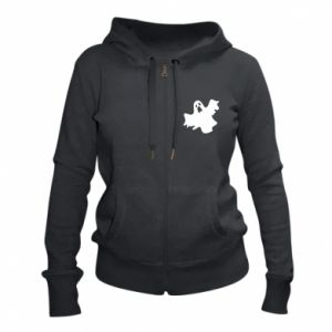 Women's zip up hoodies Ghost screams - PrintSalon