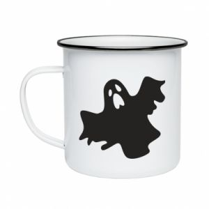 Enameled mug Ghost screams - PrintSalon