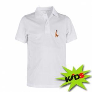 Children's Polo shirts Giraffe abstraction - PrintSalon